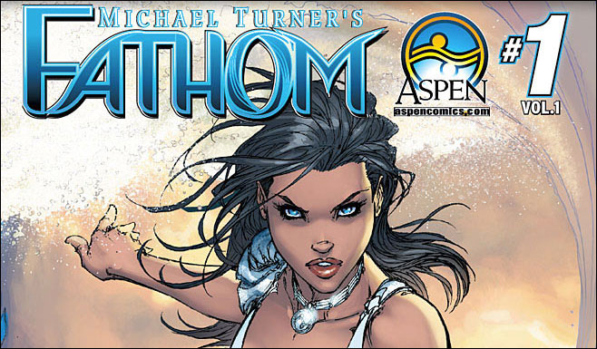 cover to fathom sourcebook from Aspen Comics