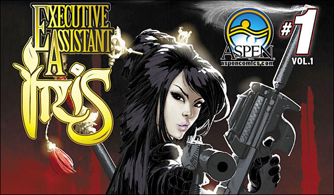 cover to executive assistant iris sourcebook from Aspen Comics