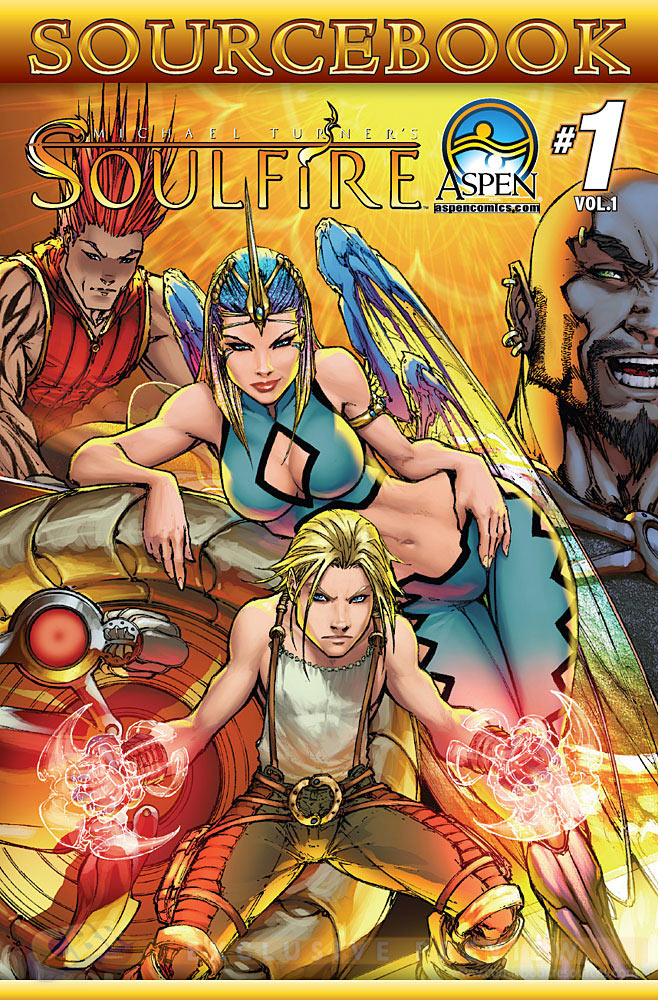 cover to soulfire sourcebook from Aspen Comics